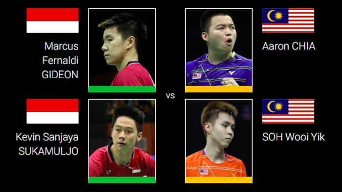 LIVE STREAMING TV Online All England Open 2020 Link TVRI, Marcus/Kevin Hadapi Wakil Malaysia