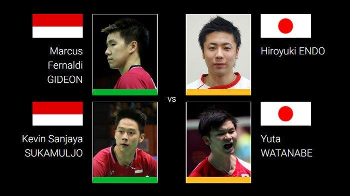 LIVE STREAMING TV Online Final All England Open 2020 Link TVRI, The Minions Marcus/Kevin vs Jepang
