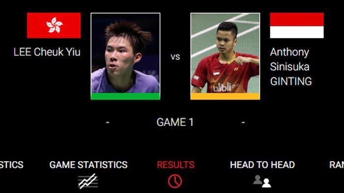 Live Streaming TV Online Final Hong Kong Open 2019, Anthony Ginting vs Tuan Rumah, Tonton Lewat HP!