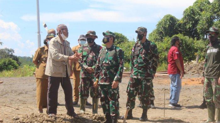 Inginkan TNI di Perbatasan, Warga Kampung Long Hubung Sumbangkan Lahan untuk Pos Ramil