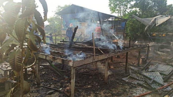 Dua Rumah di Malinau Kota Ludes Dilalap Jago Merah, Petugas Kesulitan Padamkan Api
