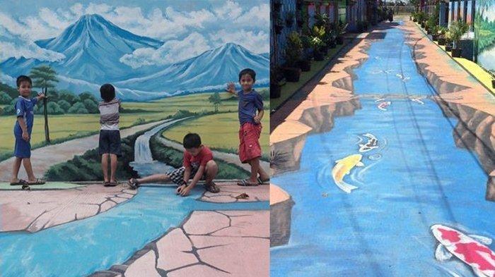 Astaga Baru Seumur Jagung, Lukisan 3D di Kampung Ini Dirusak oleh Aksi Ibu-ibu, Lihat Videonya