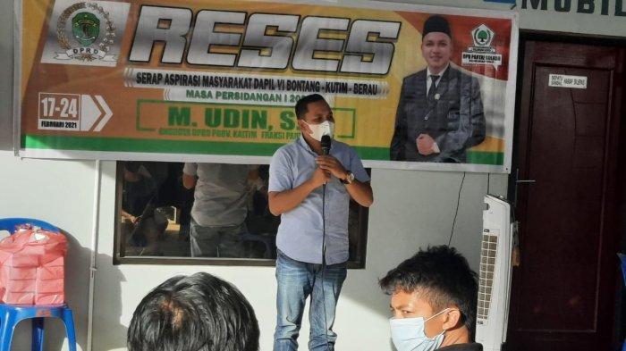 Reses di Berau Anggota DPRD Kaltim Muhammad Udin Serap Aspirasi Masyarakat Kecamatan Tanjung Redeb