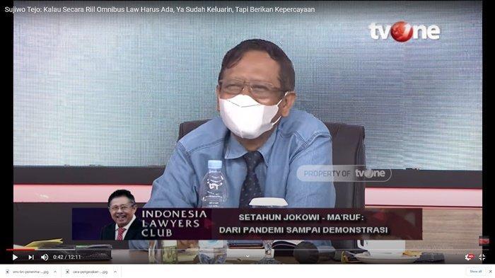 ILC TV One Semalam, Mahkamah Agung Korting Hukuman Koruptor, Mahfud MD: Itu Bukan Urusan Pemerintah