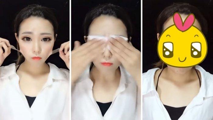 Rekam Aksi Hapus Make Up, Wajah Asli 10 Perempuan Ini Bikin Tercengang