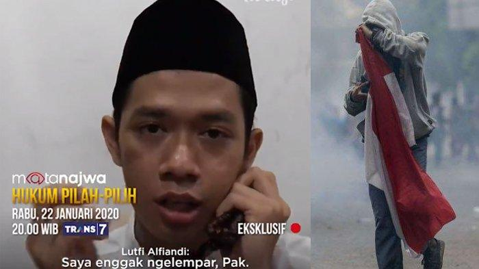 MALAM INI Live Mata Najwa Trans 7 Hukum Pilah-Pilih, Pengakuan Lutfi Alfiandi Disiksa Penyidik