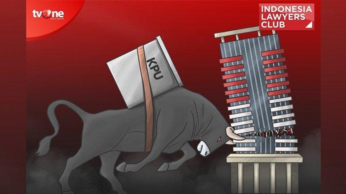 MALAM INI Live Streaming ILC TV One, Karni Ilyas Unggah Karikatur Banteng Tanduk Gedung KPK