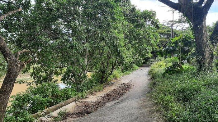 Jalan Alternatif di Sepinggan Balikpapan Amblas, Pemborong Belum Memperbaiki