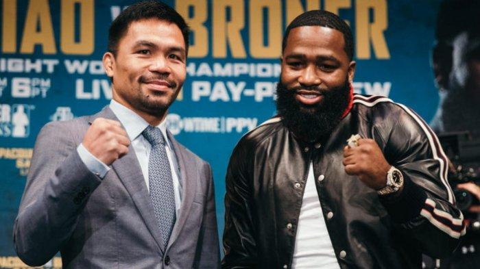 Link Live Streaming Tinju Dunia: Manny Pacquiao Vs Adrien Broner, Live TvOne Pukul 09.00 WIB