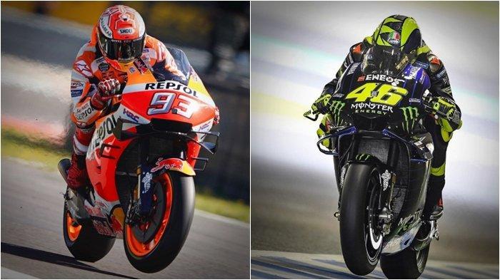 MotoGP 2021: Rossi Mustahil Maafkan Marc Marquez, Disinggung Cedera Baby Alien, The Doctor Tertawa!