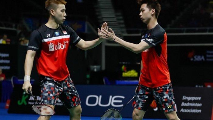 Link Live Streaming Badminton Hari Ini Denmark Open 2019  Marcus/Kevin Segera Main Lawan Han/Zhou
