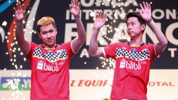 SEDANG BERLANGSUNG Live Streaming Final Fuzhou China Open 2019 Tekad Marcus/Kevin Pertahankan Gelar