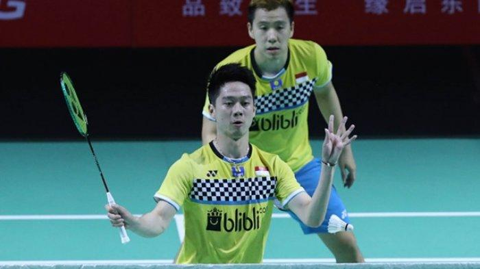Hasil Fuzhou China Open 2019 Marcus/Kevin ke Semifinal, Jumpa Li/Liu Jika Duo Menara Kalahkan India