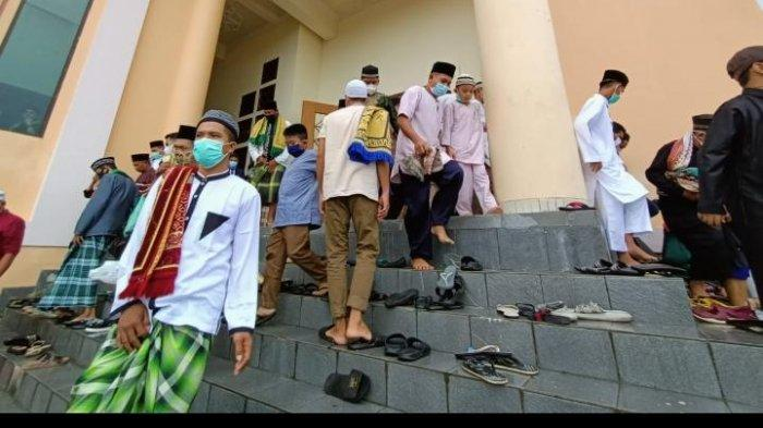 Suasana Sholat Idul Fitri di Masjid Baitul Izzah Islamic Center Kota Tarakan,  (TRIBUNKALTIM.CO, ANDI PAUSIAH)