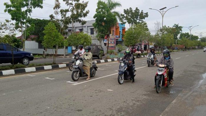 Cegah Penyebaran Covid-19 dan Lakalantas, Marka Physical Distancing Dipasang di Kalimantan Utara