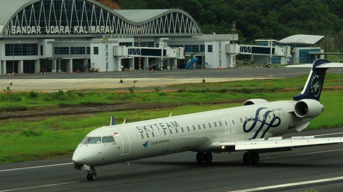 Garuda, Sriwijaya dan Batik Air Boyong Pesawat Berbadan Lebar ke Kalimarau, Ini Kesiapan Bandaranya