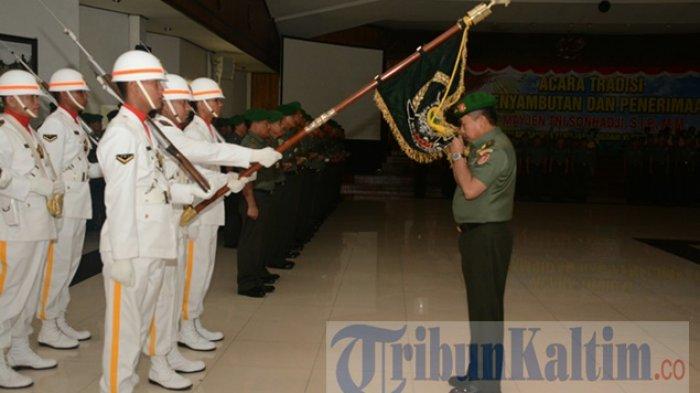Cium Pataka, Mayjen TNI Sonhadji Resmi Jadi Warga Kodam VI Mulawarman