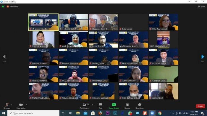 Meeting Virtual dalam rangka kerjasama MoU antara Universitas Balikpapan dengan Universitas Esa Unggul.