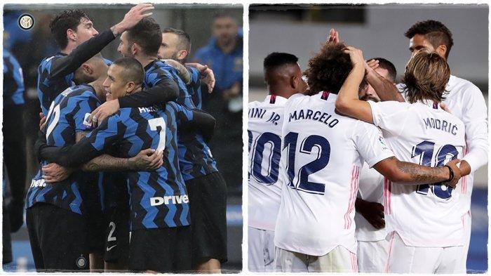 Jadwal Liga Champions Malam Ini, Laga Hidup Mati Real Madrid dan Inter Milan, Zidane Menyerah?