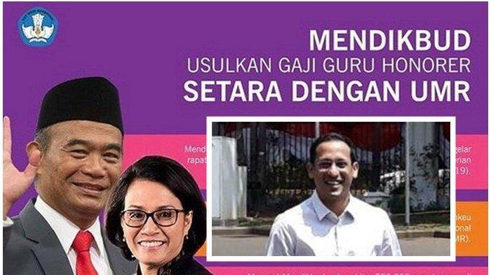 Mendikbud Tak Lagi Muhadjir Effendy, Janji untuk Honorer Ini Bakal Dilanjut Nadiem Makarim? Gaji UMR