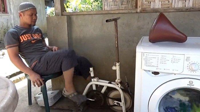 Pria Ini Bikin Mesin Cuci Tenaga Pedal Sepeda, Selain Hemat Listrik, Sekaligus Bisa Bakar Lemak!