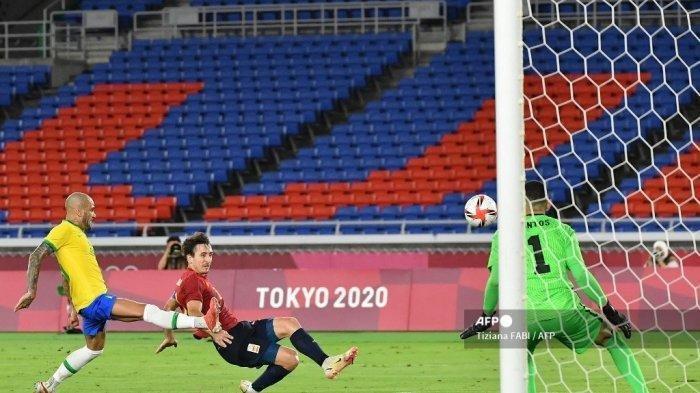 Fakta Menarik Dibalik Kemenangan Brasil atas Spanyol di Final Oilimpiade Tokyo, Ada Rekor Dani Alves