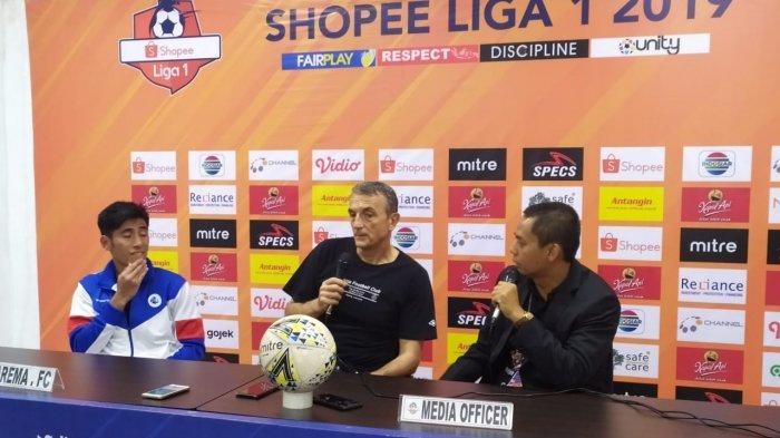 Arema FC Kembali Derita Kekalahan, Milomir Seslija: Kita Belum bisa Bangkit Pasca Kalah Lawan PSIS