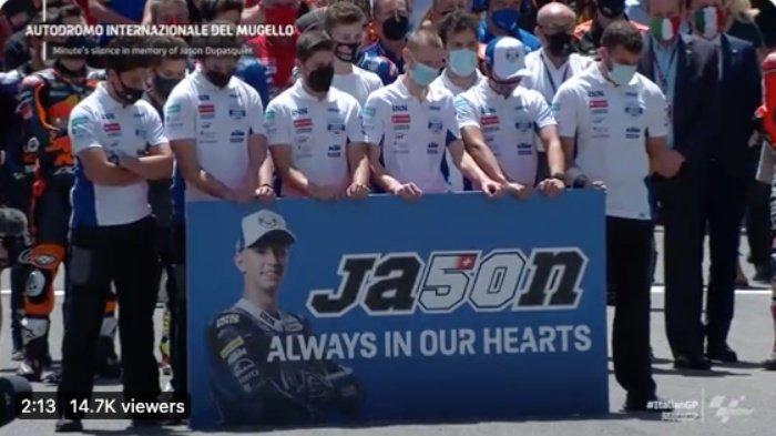 Minute of Silence untuk Jason Dupasquier sebelum balapan MotoGP Italia 2021