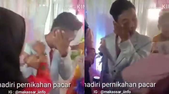Video Viral Pengantin Pria Pasrah Ditampar di Pelaminan, Cewek Ditinggal Nikah Ngamuk, Banjir Tangis