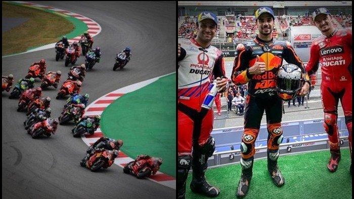 HASIL MotoGP Catalunya 2021, Rider KTM Beri Kejutan, Quartararo Kena Sial, Rossi Terkapar di Lap 10
