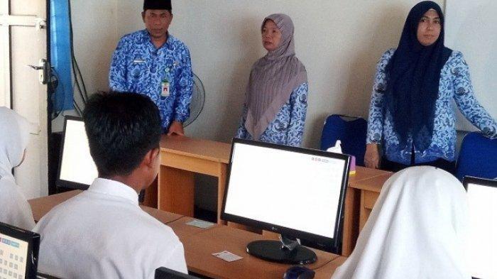 Kepala Kemenag Pantau UAMBN BK MTsN Kubar, Lancar di Tengah Pandemi Covid-19