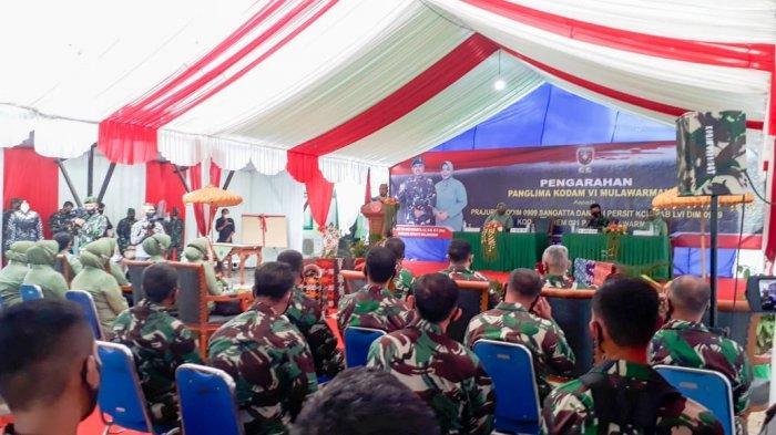 Pangdam IV Mulawarman Mayjen TNI Heri Wiranto Arahkan Kodim 0909/Sangatta, Eratkan Komunikasi