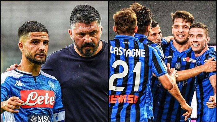 Hasil Liga Italia, Tren Apik Gattuso di Napoli Terhenti, Atalanta Kirim Tekanan ke Inter Milan