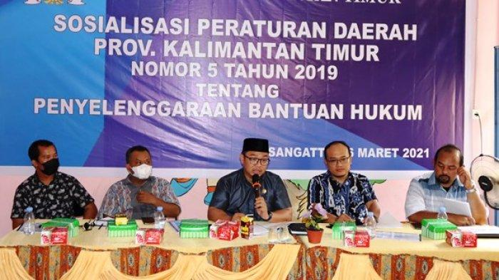 Nasiruddin Sebut Semua Orang Punya Hak Sama, Sosialisasi Perda Bantuan Hukum di Sangatta