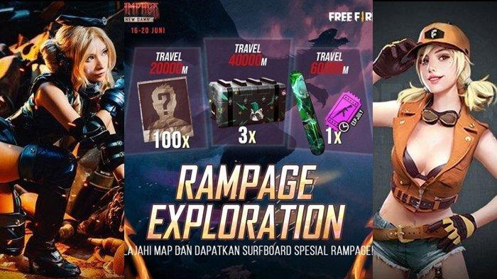 UPDATE Kode Redeem FF 17 Juni 2021: Buruan Klaim Sekarang, Selesaikan Misi di Rampage Exploration