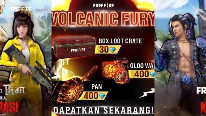 UPDATE Kode Redeem FF 9 Mei 2021, Klaim Sekarang & Dapatkan Semua Koleksi Item Spesial Volcanic Fury