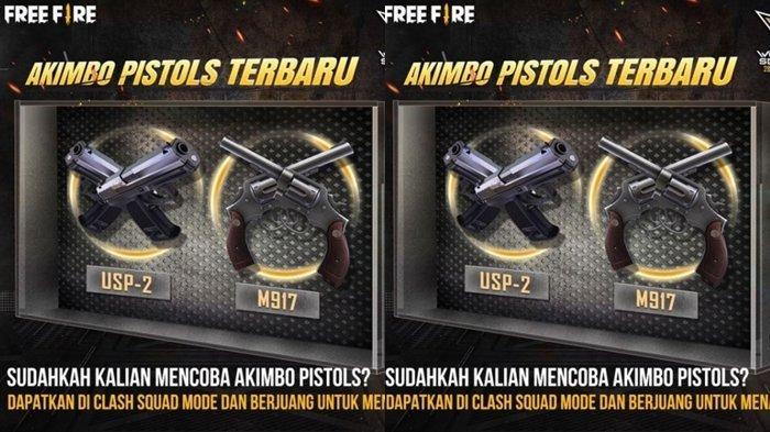 UPDATE Kode Redeem FF 26 Mei 2021: Klaim Sekarang, Gunakan Akimbo Pistols Terbaru di Clash Squad