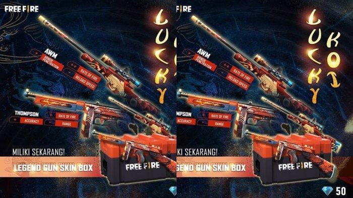 UPDATE Kode Redeem FF 29 Mei 2021: Klaim Sekarang, Dapatkan Gunskin Legend dari Lucky Koi