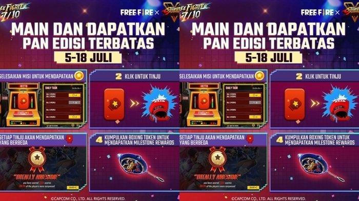 UPDATE Kode Redeem FF 6 Juli 2021: Klaim Sekarang & Dapatkan Pan Street Fighter, Selesaikan Misinya