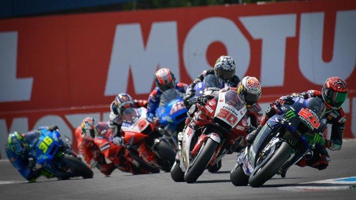 Para rider ketika melaju di Sirkuit Assen, pada MotoGP Belanda 2021 lalu. Jadwal selanjutnya para rider akan balapan pada MotoGP Styria.