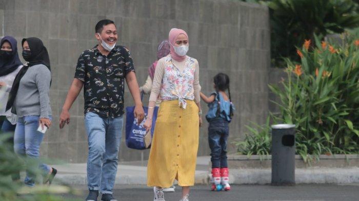 Sea Side Avenue di Plaza Balikpapan bisa menjadi lokasi ngabuburit di kota minyak, julukan Kota Balikpapan, Provinsi Kalimantan Timur pada Rabu (14/4/2021). TRIBUNKALTIM/DWI ARDIANTO