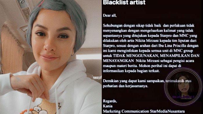 Ngamuk ke Wartawan, Stasiun Televisi Blacklist Nikita Mirzani karena Lontarkan Kata-kata Kasar