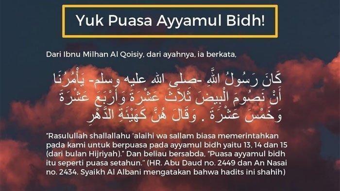 Berikut Jadwal Puasa Ayyamul Bidh Bulan Desember 2019, Niat dan Keutamaan Puasa Ayyamul Bidh