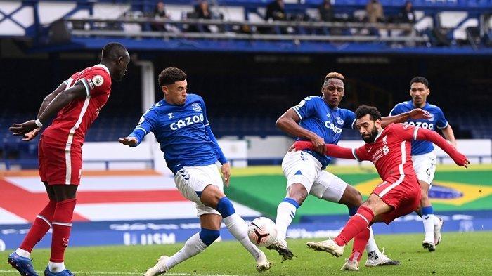 Hasil Liga Inggris Everton vs Liverpool, Salah Cetak Gol Ke-100, Tapi The Reds Gagal Raih Kemenangan