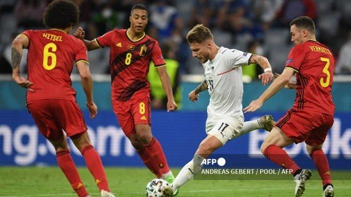 SEDANG BERLANGSUNG Live Streaming UEFA Nations League 2021: Italia vs Belgia, Link Nonton Mola TV