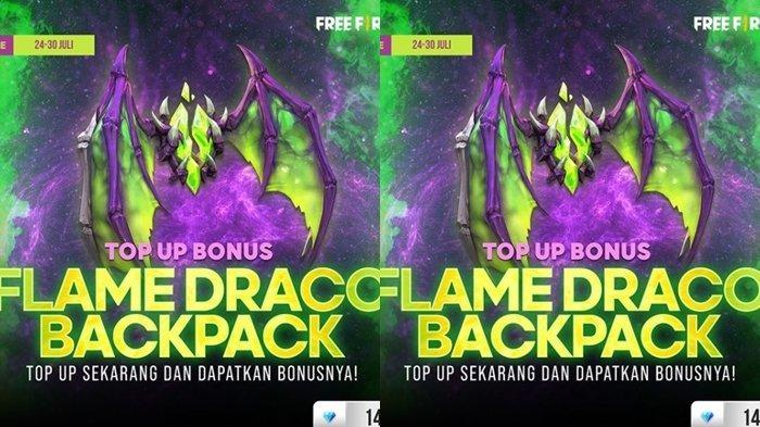 UPDATE Kode Redeem FF 25 Juli 2021: Klaim Sekarang dan Dapatkan Backpack Keren Flame Draco
