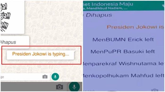 Obrolan WhatsApp Bubar saat Jokowi Muncul, Erick Thohir, Wishnutama, Nadiem Makarim Susul Prabowo