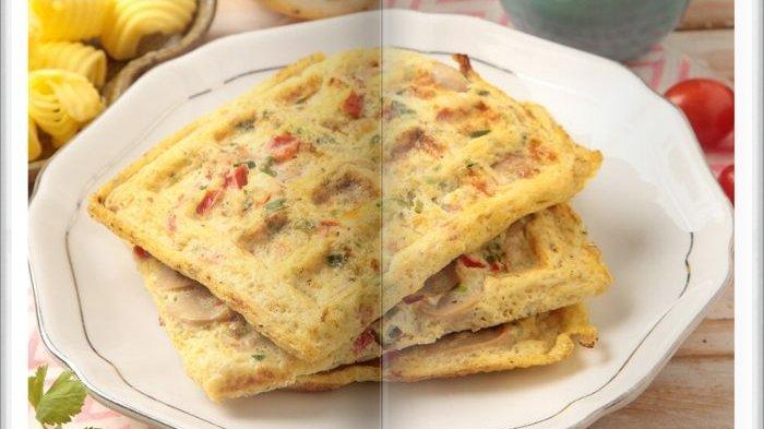 Cara Bikin Omelet Waffle Enak, Menu Sarapan Simpel Saat Ngumpul Bersama Keluarga di Akhir Pekan