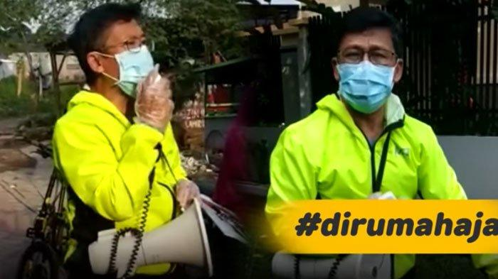 Pakai Toa, Aa Gym Sosialisasi Social Distancing dan Bahaya Virus Corona, Keliling Pakai Sepeda