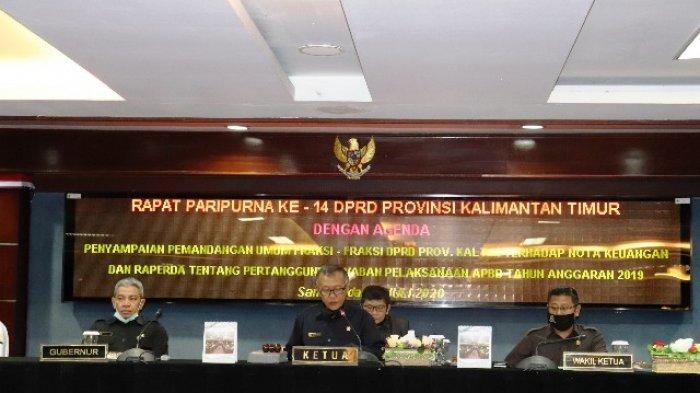 Delapan Fraksi DPRD Sampaikan Pandangan Umum Atas Pelaksanaan APBD 2019 Pemprov Kaltim